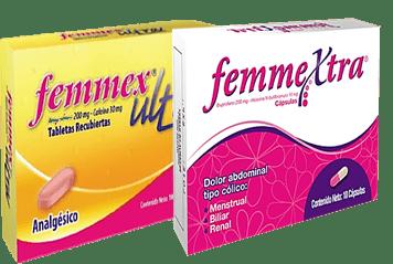 Femmex Ultra y Femmextra para el dolor menstrual